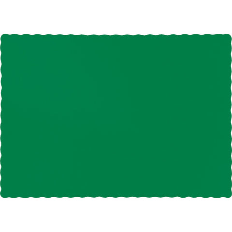 Emerald Green Bulk Party Paper Placemats (600/Case)-Solid Color Party Tableware-Creative Converting-600-