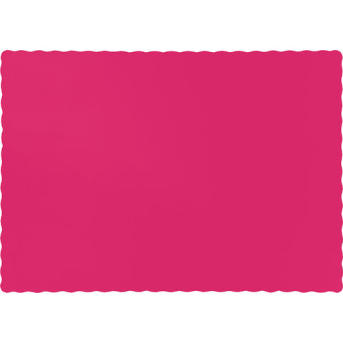Hot Magenta Pink Bulk Party Paper Placemats  (600/Case)