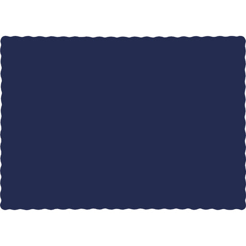 Navy Blue Bulk Party Paper Placemats (600/Case)-Solid Color Party Tableware-Creative Converting-600-