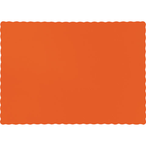 Orange Bulk Party Paper Placemats (600/Case)-Solid Color Party Tableware-Creative Converting-600-