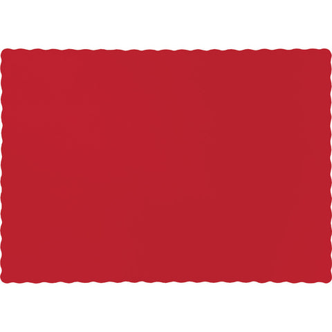 Red Bulk Party Paper Placemats (600/Case)-Solid Color Party Tableware-Creative Converting-600-