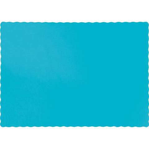 Bermuda Blue Bulk Party Paper Placemats (600/Case)-Solid Color Party Tableware-Creative Converting-600-
