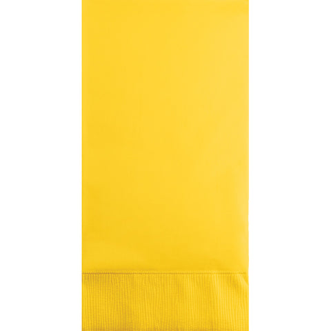 School Bus Yellow Bulk Party 3 Ply Guest Towel Napkins (192/Case)-Solid Color Party Tableware-Creative Converting-192-