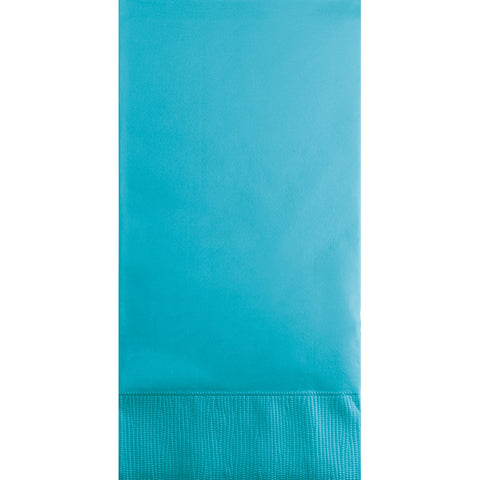 Bermuda Blue Bulk Party 3 Ply Guest Towel Napkins (192/Case)-Solid Color Party Tableware-Creative Converting-192-