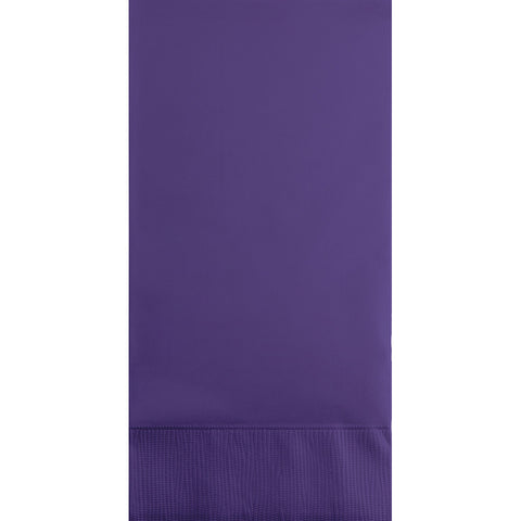 Purple Bulk Party 3 Ply Guest Towel Napkins (192/Case)-Solid Color Party Tableware-Creative Converting-192-