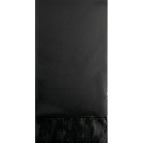 Black Bulk Party 3 Ply Guest Towel Napkins (192/Case)-Solid Color Party Tableware-Creative Converting-192-