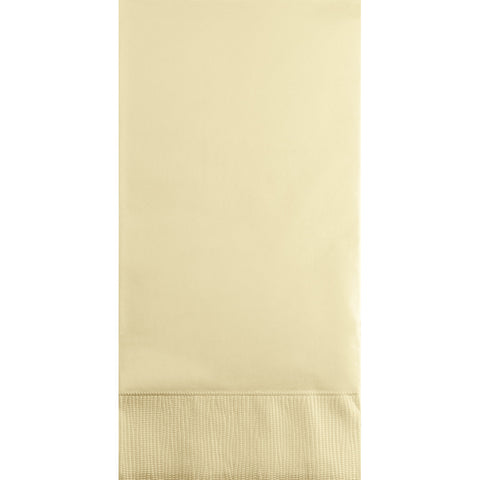 Ivory Bulk Party 3 Ply Guest Towel Napkins (192/Case)-Solid Color Party Tableware-Creative Converting-192-