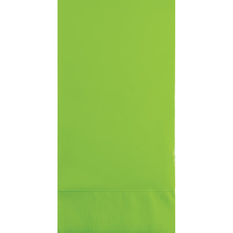 Lime Green Bulk Party 3 Ply Guest Towel Napkins (192/Case)-Solid Color Party Tableware-Creative Converting-192-
