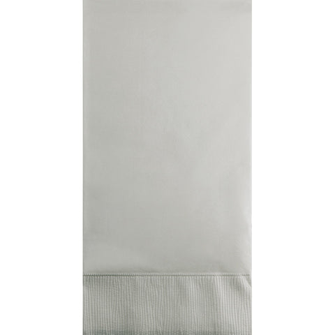 Silver Bulk Party 3 Ply Guest Towel Napkins (192/Case)-Solid Color Party Tableware-Creative Converting-192-