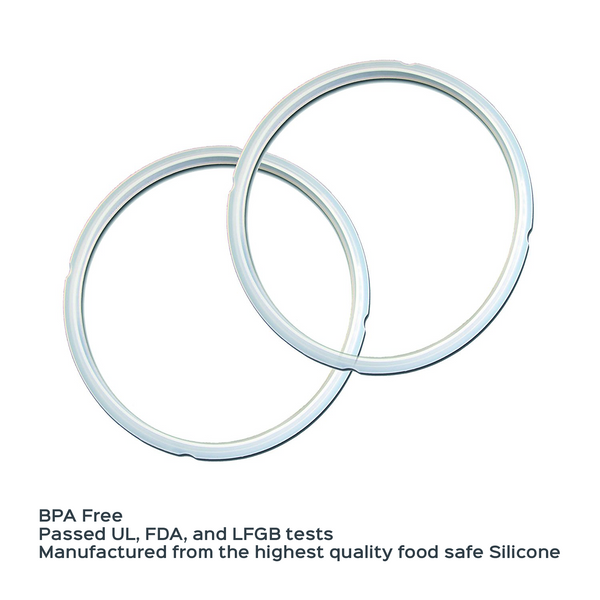Instant Pot Accessories 2 pack 8 Quart Sealing Ring Clear