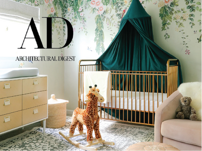 ARCHITECTURAL DIGEST: How a Dull Home Office Became a Dreamy Nursery image