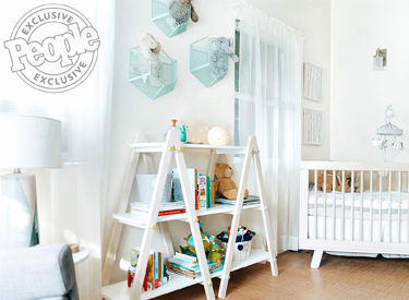 People: Justin and Emily Baldoni's Bright Nursery image