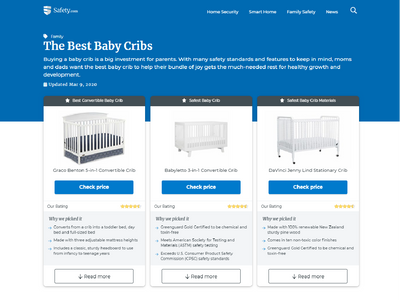 SAFETY.COM: 10 Best Baby Cribs to Buy in 2020 image