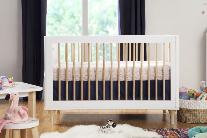 mid century modern baby furniture. Babyletto Lolly Crib In White And Natural With Bloom Bedding Collection, Mid-Century Mid Century Modern Baby Furniture U