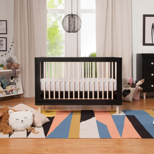 Babyletto Lolly Collection in Black and Washed Natural