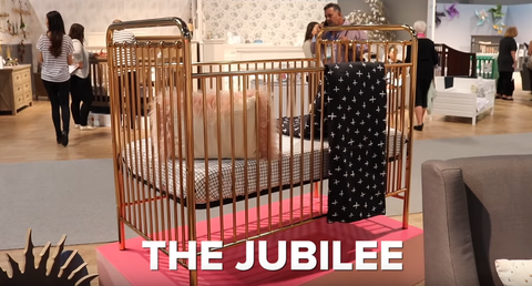 Mini Mama 11-5-2017 babyletto 2017 ABC Kids booth video tour Jubilee Metal Crib
