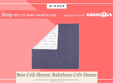 The Bump 1-5-16 babyletto crib sheets Best of Baby Awards 2016 Best Crib Sheets Winner
