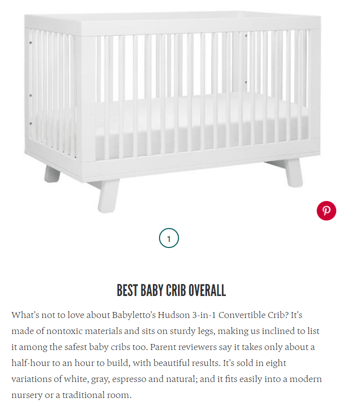 The Bump 9-1-17 10 Best Baby Cribs babyletto Hudson Crib Best Overall Crib 2017