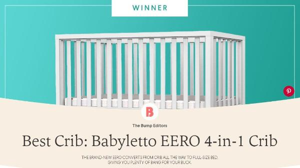 The Bump Best Crib Award 2017 Babyletto Eero Crib ...