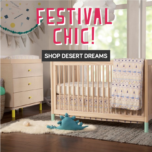babyletto festival chic shop desert dreams bedding