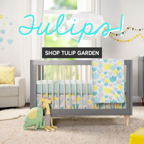 babyletto tulip garden bedding