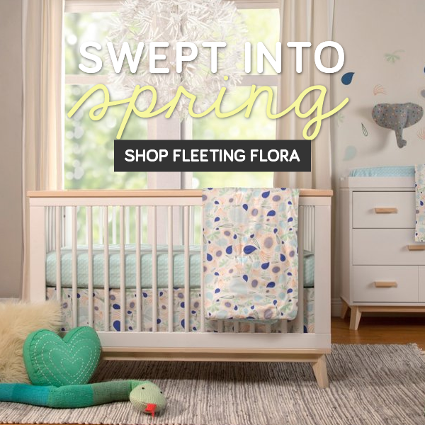 explore the spring fleeting flora bedding