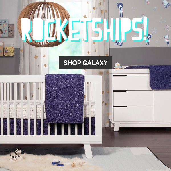 babyletto rocketships galaxy bedding