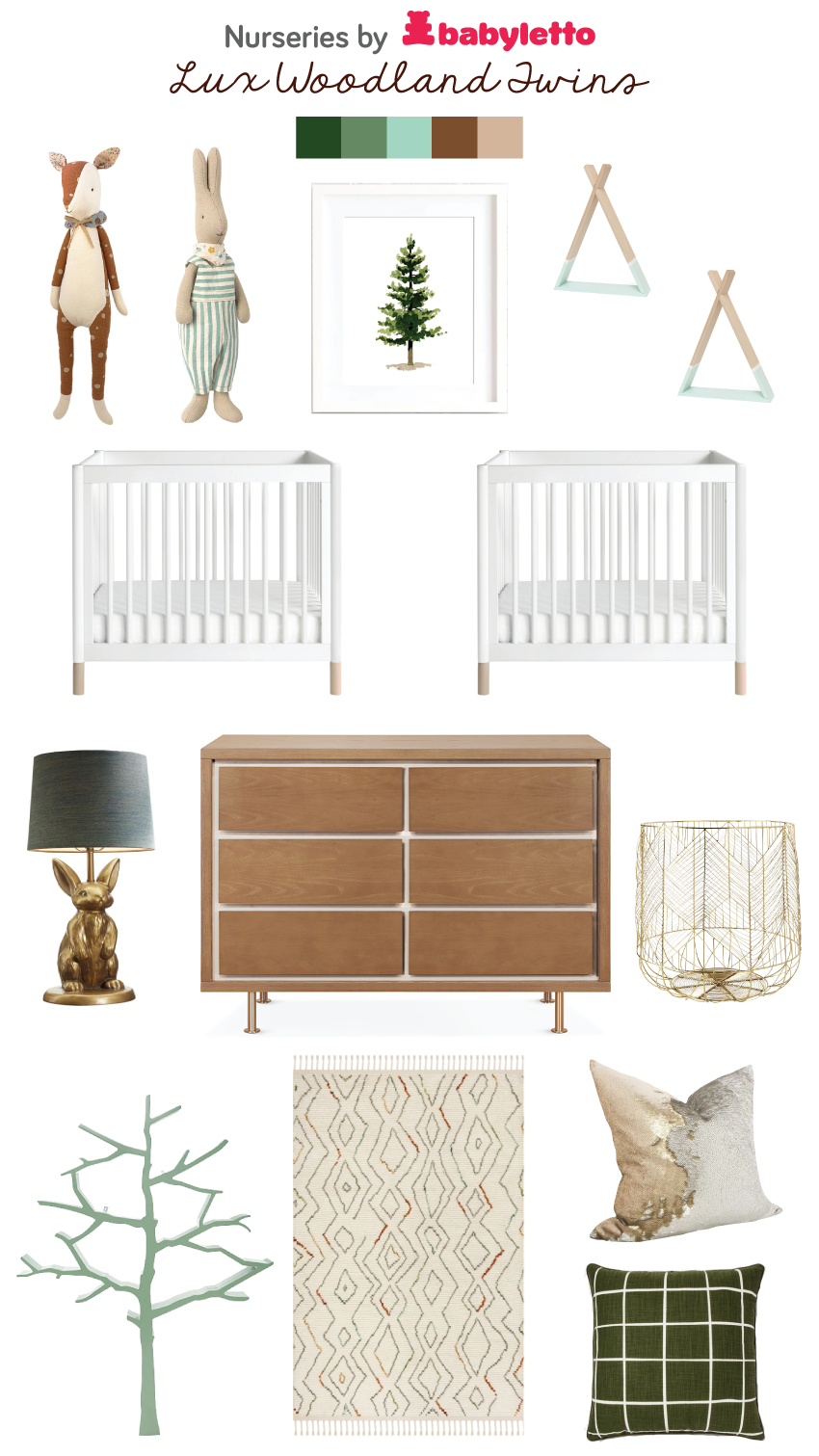 babyletto nursery styleboard woodland twin