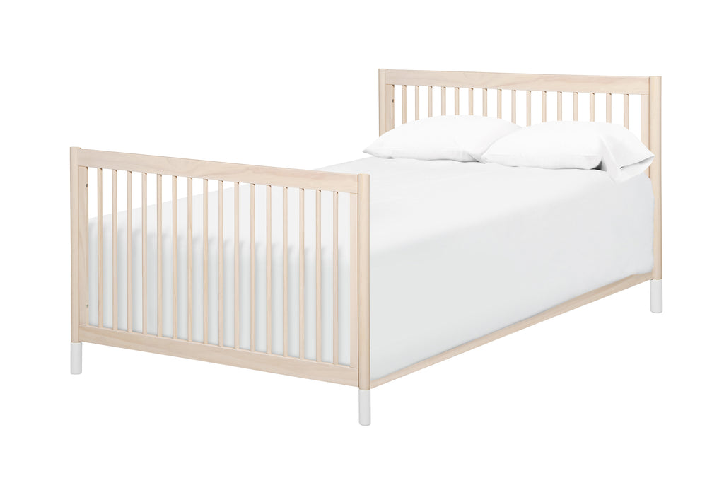 M5789NX,Hidden Hardware Full Size Bed Conversion Kit In Washed Natural