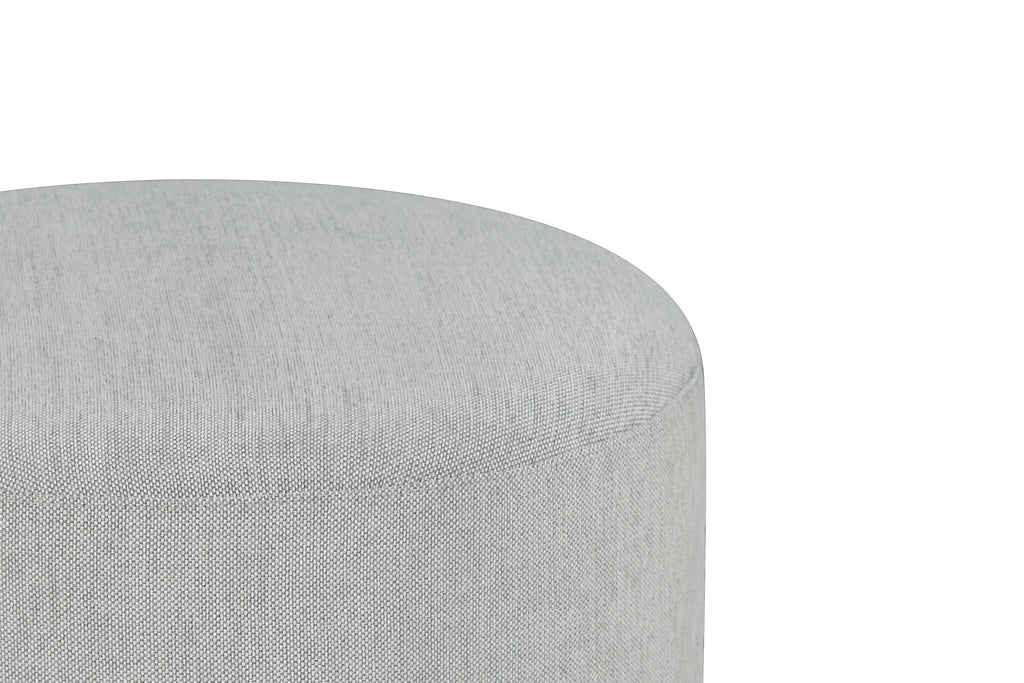 M10185GV,Tuba Gliding Ottoman in Winter Grey Weave Fabric