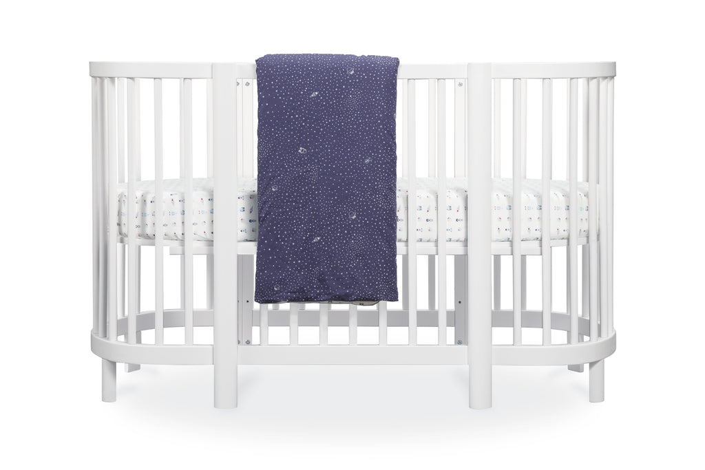 T8057,Galaxy Oval Fitted Crib Sheet