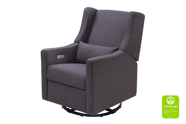 Babyletto Kiwi greenguard electric recliner and swivel glider with USB port best nursery chair Cornflower