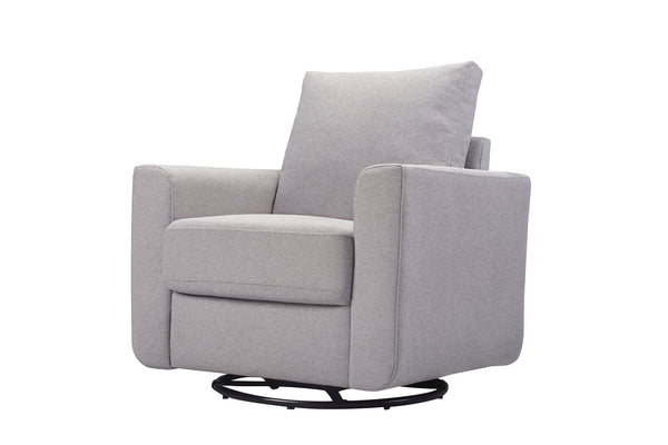 babyletto seating chair grey Bento Glider In Pepper Color Fabric