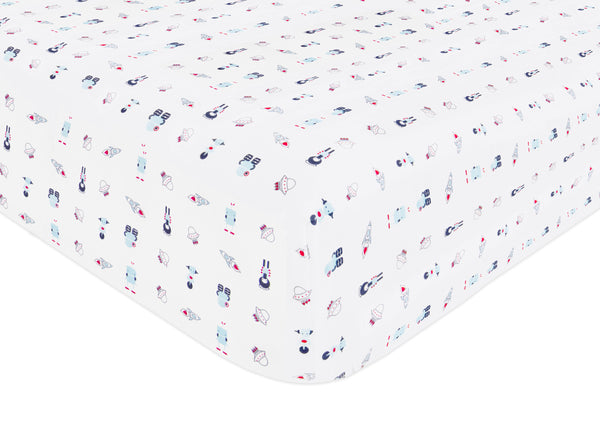 T8050,Galaxy Fitted Crib Sheet