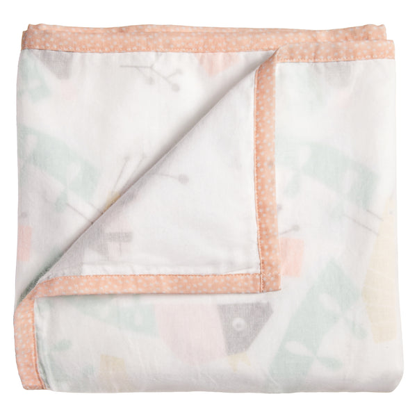T18011,Menagerie 3-Layer Organic Muslin Blanket Canopy
