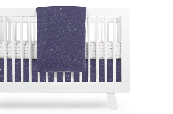 T8051A,Galaxy Crib Skirt (Stars) In Navy color Default Title