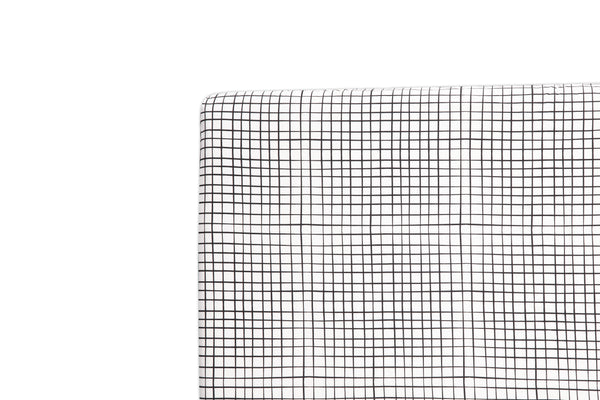 T11569,Tuxedo Grid Mini Crib Sheet in Grid Print Default Title