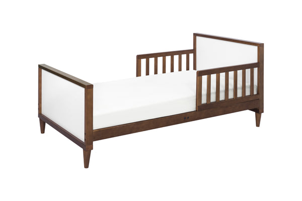 babyletto mid century modern ziggy toddler bed White / Walnut