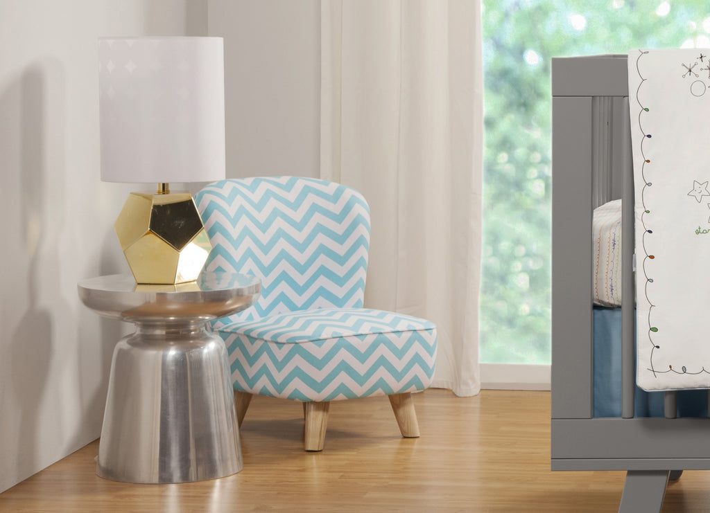 M0505CB,Pop Mini Chair Chevron Blue