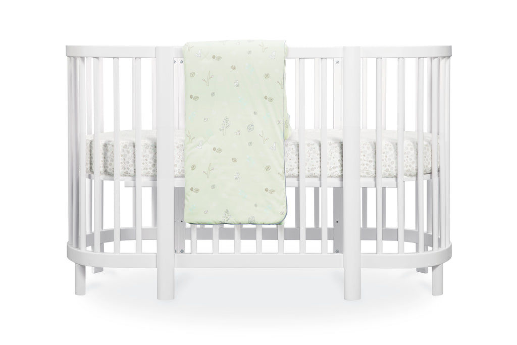 T8077,Tranquil Woods Oval Fitted Crib Sheet
