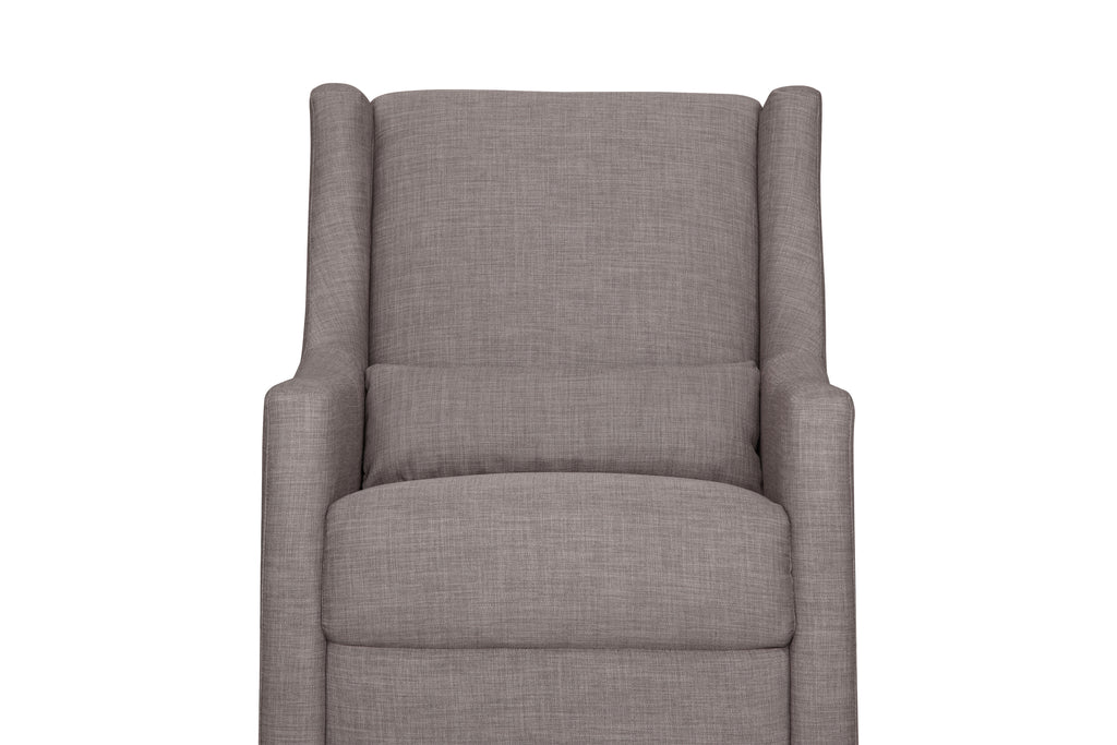 M11287FTGRY,Toco Swivel Glider and Ottoman in Grey Tweed with Natural Feet