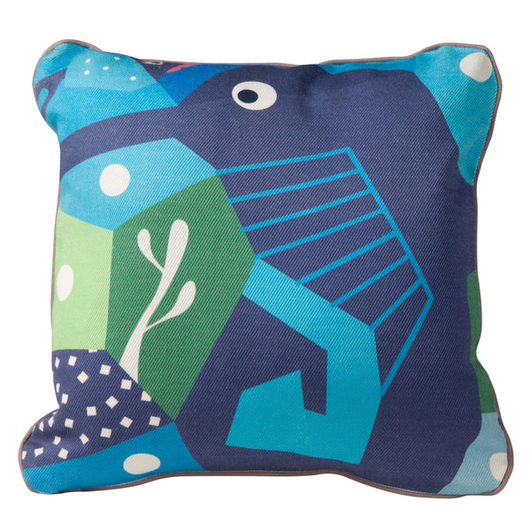 T19013,Oceanography Cubist Print Toddler Pillow Seahorse