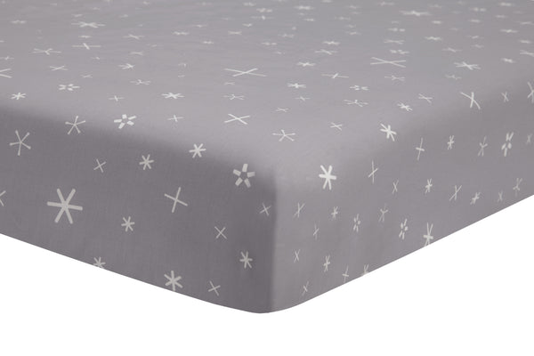 T9052,Galaxy Galactic Grey Stars Fitted Crib Sheet  Default Title