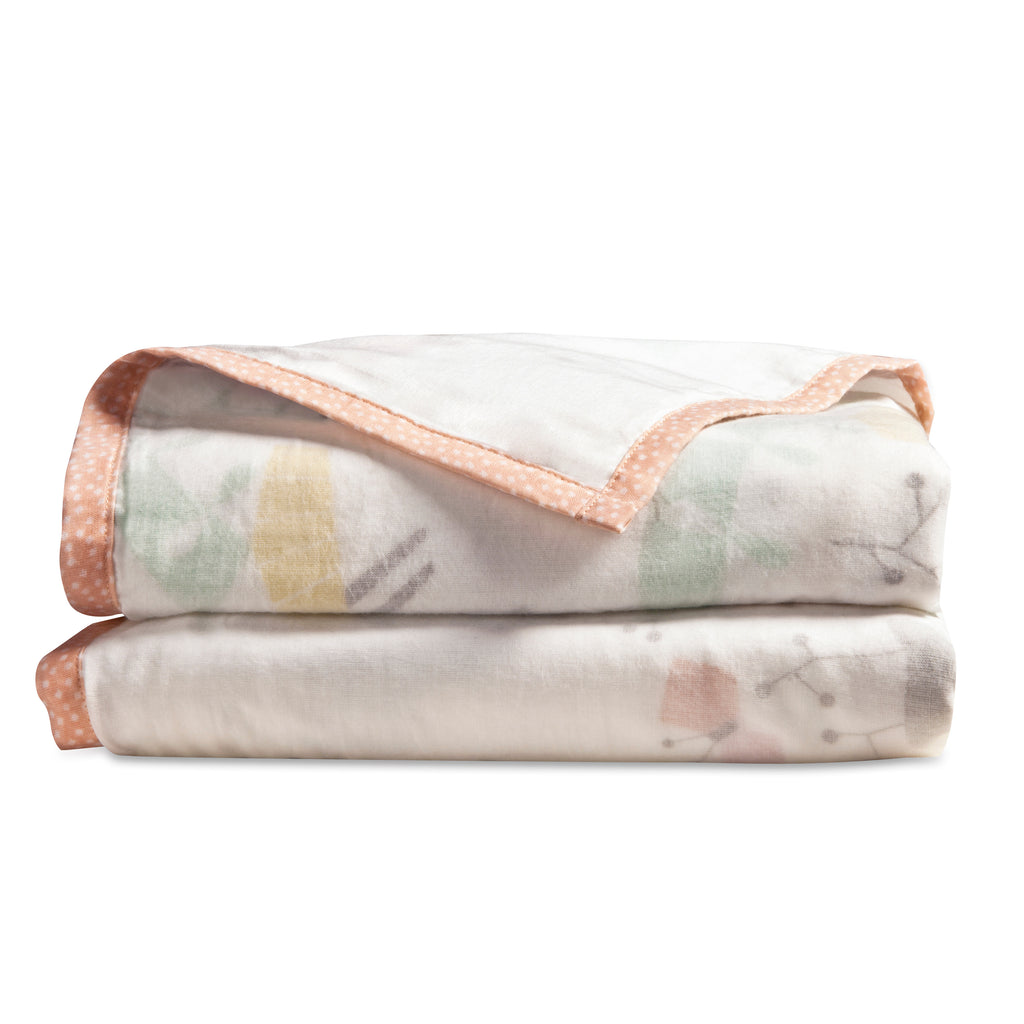 T18012,Menagerie 3-Layer Organic Muslin Blanket Forest Animals