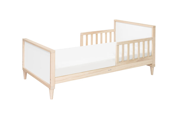 babyletto mid century modern ziggy toddler bed Washed Natural / White