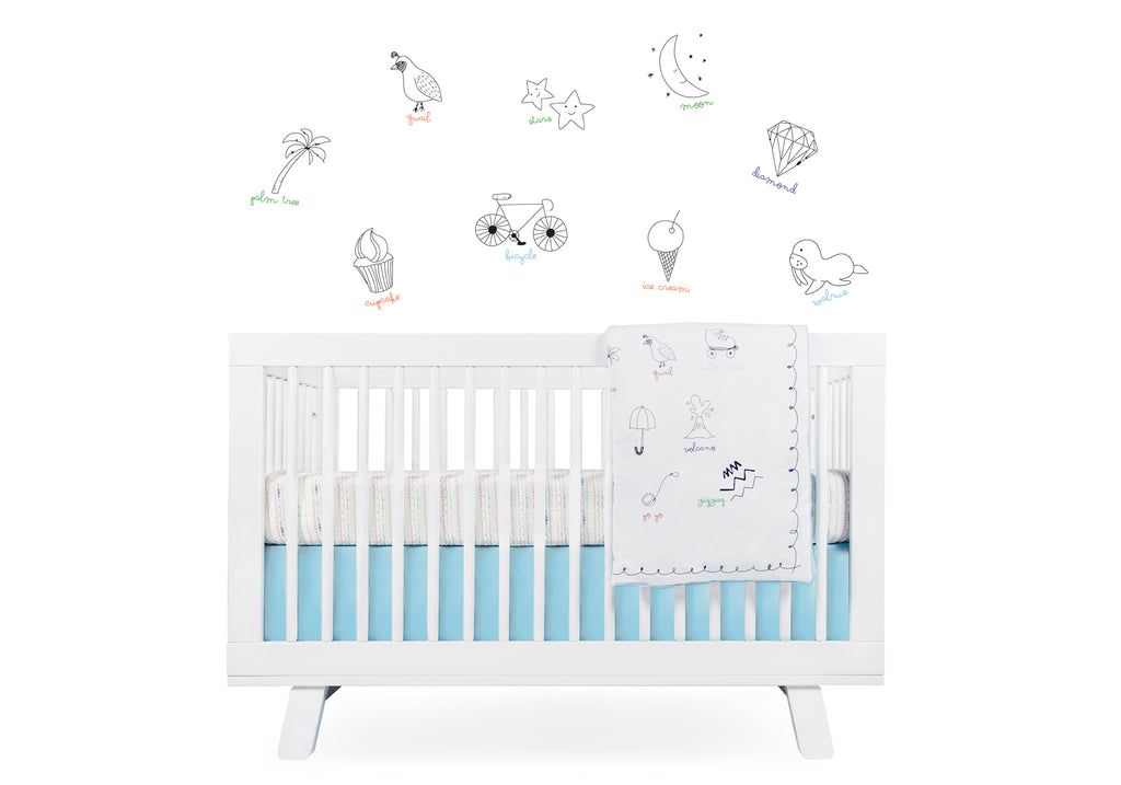 T8080,Alphabets Fitted Crib Sheet