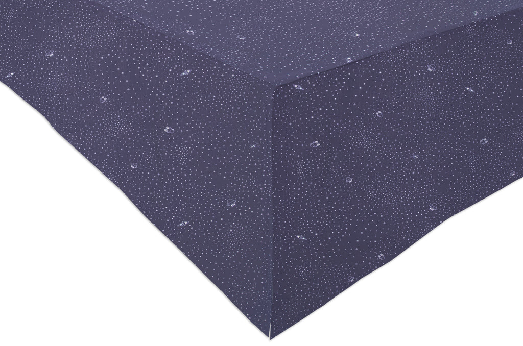 Galaxy Crib Skirt Stars In Navy Color Babyletto