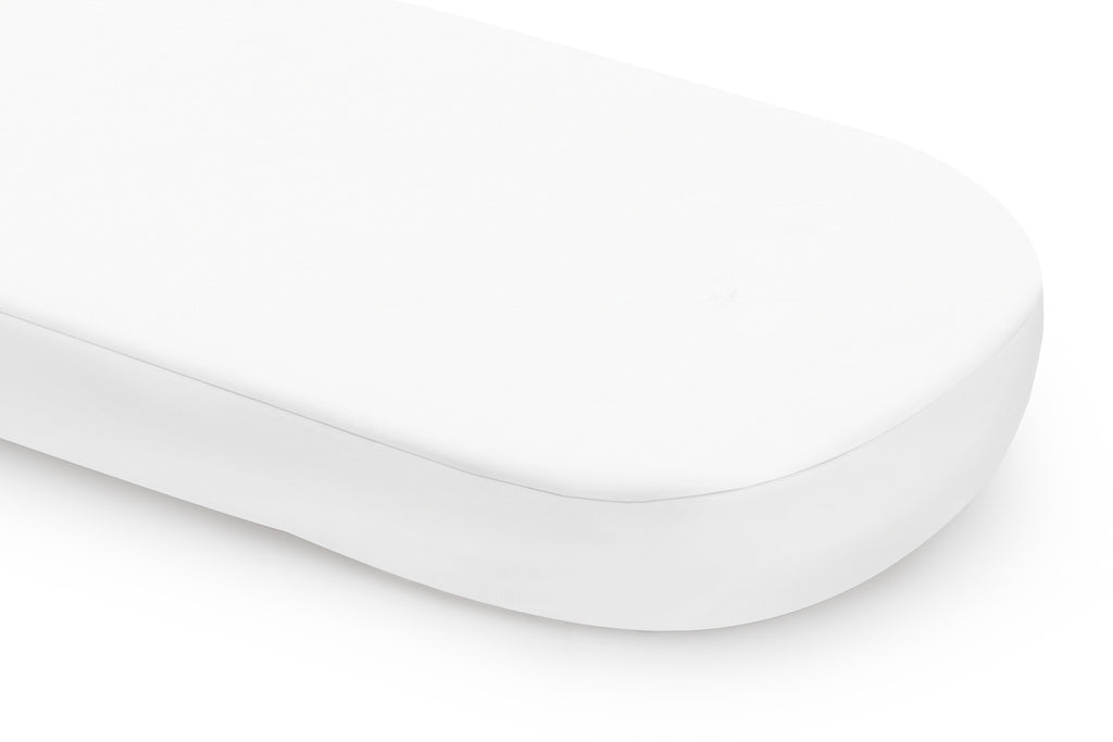 T8017,White Oval Fitted Crib Sheet
