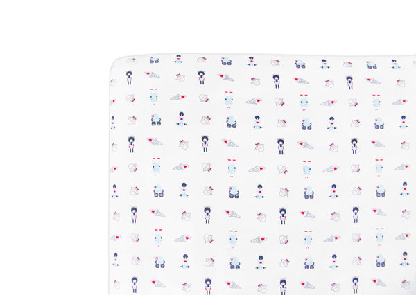 T8055,Galaxy Fitted Mini Crib Sheet  Default Title