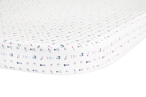 Galaxy Oval Fitted Crib Sheet